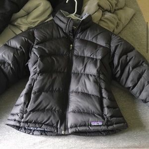 Patagonia Down Puffer Jacket Coat Black Medium
